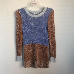 Madewell Knit Stretch Multi Color Sweater Pullover